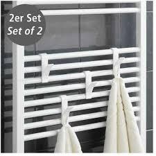 2er set handtuchhalter haken rundheizkörper badheizkörper heizung handtuchhaken