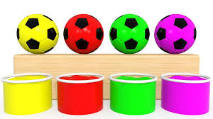 Learn Colors With Soccer Balls For Children