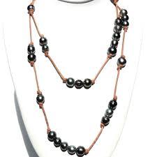 100 Pearl Design Bora Bora Tahitian Black Necklace