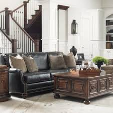 Transitional Living Room Leather Sofa by Furniture Transitional Living Room With Black Leather Sofa And