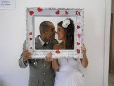 cadre photo réalisé pour un mariage décoration photos