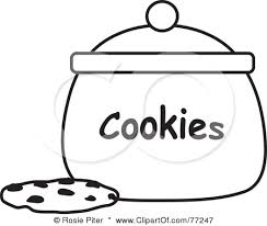 sugar cookie clipart black and white