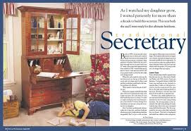 traditional secretary popular woodworking magazine
