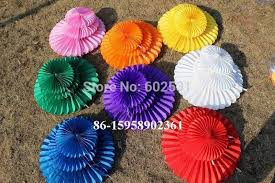20pcs Lot 25 Cm Wedding Party Paper Decoration Birthday Arrangement Fan Flowers Balls In DIY Decorations From Home Garden