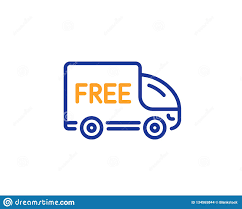 100 Truck Sign Free Delivery Line Icon Shopping Vector Stock Vector