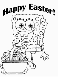 Printable Spongebob Easter Coloring Pages 06