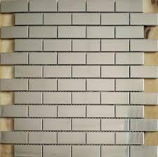 Subway Tile Backsplash For Kitchen Construction Silver Tiles Stainless Steel Subway Tile Backsplash Kitchen Brick Mosaics Design Bathroom Wall Fireplace Tile