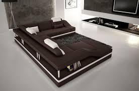 canapé design d angle canapé d angle en cuir italien 8 places chocolat et blanc