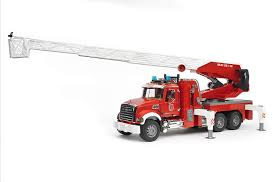 100 Bruder Mack Granite Liebherr Crane Truck Amazoncom Fire Engine With Water Pump Toys