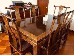 Antique Dining Table + 6 Chairs In Excellent Condition, Home ...