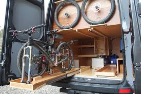 Sprinter DIY Campervan By Allen Sutter Rear Bike Drawers RV Conversion