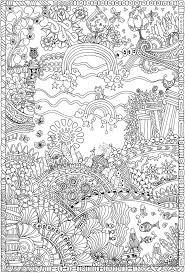 Para Colorear Creative Haven Insanely Intricate Entangled Landscapes Coloring Book Dover Publications