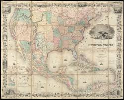 Map Of The United States America British Provinces Mexico West Indies And Central With Part New Granada Venezuela