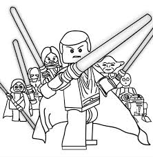 Kids Coloring Lego Star Wars Pages To Print On Free Printable