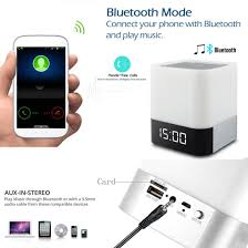 Bedroom Boom Mp3 by Amazon Com Night Light Bluetooth Speakers Wamgra All In 1 Touch