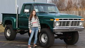 The 16 Year Old Girl That Drives A 1975 Ford F-150 - YouTube