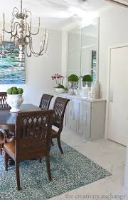 Oversized Mirror In Dining Room