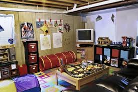 Unfinished Basement Ideas Cozy Playroom for Kids