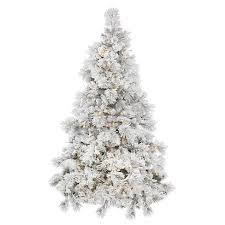 35ft Pre Lit Artificial Christmas Tree White Flocked Alberta Spruce