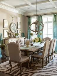 Modern Dining Room Of Carpet Rustic Table Fresh Curtains Decorating