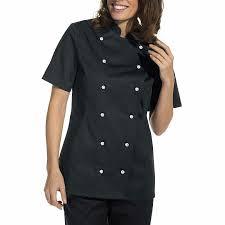blouse cuisine femme veste de cuisine femme manches courtes cintrée poche sur la manche