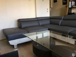 canapé simili cuir gris achetez joli canapé simili quasi neuf annonce vente à villemomble