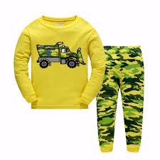 100 Monster Truck Pajamas 2017 Boys Clothing Sets Baby Suit Sleepwears Cotton