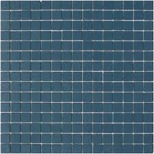 lyric unglazed porcelain rectified edge mosaic tile in navy blue