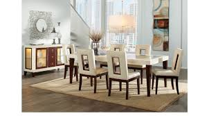 sofia vergara savona ivory 5 pc rectangle dining room cut out chairs