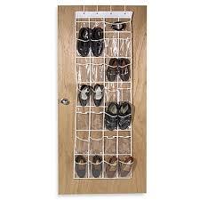 Over The Door Bathroom Organizer by Crystal Clear 24 Pocket Over The Door Vinyl Shoe Organizer Bed