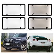 100 Truck License Universal 2X Clear Smoke Car Plate Frame Cover Bug Shield
