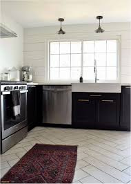 Seamless Kitchen Flooring Beautiful Wall Tiles Design Floor With Dark Cabinets