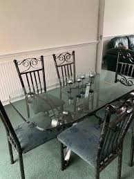 Glass/wrought Iron Dining Room Furniture | In Bolton, Manchester | Gumtree