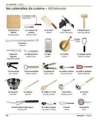 materiel de cuisine en anglais les ustensiles de cuisine vocabulaire chez catherine lot de 5
