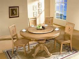 White Oak Rolling Round Kitchen Table Set Vintage Dining Room