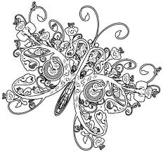 Endless Creati New Picture Butterfly Coloring Pages For Adults