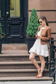 Cream Dress Cognac Jacket And Shoes Mlovesm