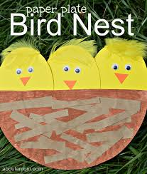 This Paper Plate Bird Nest Is A Great Craft For Kids To Do Spring Or