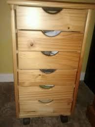 Under Desk File Cabinet by Filing Cabinet Office Storage 6 Pine Drawers Wooden Under Desk