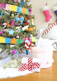 Plastic Wrap Your Christmas Tree by Candy Land Christmas Tree Lines Across