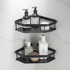 schwarz messing badezimmer regal dusche regale storage rack