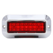 Truck-Lite® 92695R - Silver 2-Screw Bracket Mount Red LED Strobe Light