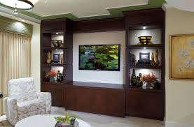 Living Room Wall Units White Sideboard Furniture Brown Pertaining To Fitted