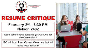 Resume Critique - International Business Club - NC State Free Resume Critique Service Ramacicerosco Resume Critique Week The College Of Saint Rose 10 Best Free Review Sites In 2019 List 14 Fantastic Vacation Realty Executives Mi Invoice And Resum Of Your Dreams What You Need To Know Make Cv Online Luxury Line Beautiful 30 A Toolkit To Make The Job Search Easier For Jobseekers Adam 99 My Wwwautoalbuminfo Back End Developer Front New Elegant Bmw Jobs Format 1 Reporter 13 Ways Youre Fucking Up Critiquepdf Docdroid