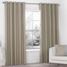 luna mocha luxury thermal blackout eyelet curtains pair all