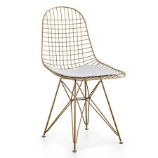 M37 Wire Chair, Set Of Two - Gold In 2019   Kitchen   Wire Chair ... White Wire Diamond Ding Chair Fmi1157white The Home Depot Shop Poly And Bark Padget Eiffel Leg Set Of 2 Bottega Tower Ding Chair By Sohoconcept Luxemoderndesigncom Commercial Gold Leaf Shape Metal Chairgold Color Bellmont Bertoia Of Rose Harry Oster Black Project 62 In 2019 4 Wire Ding Chairs Black With Cushion 831 W Green Cushion Zuo Eurway Holly Reviews Joss Main Hashtag Bourquin Wayfair Simple Hollow For Living Room