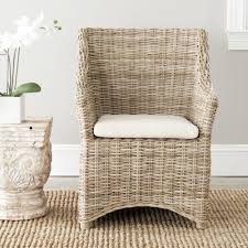 Safavieh Dining Rural Woven St Thomas Wicker Washed-out Brown Wing Back Arm  Chair - N/A Bainbridge Ding Arm Chair Montecito 25011 Gray All Weather Wicker Solano Outdoor Patio Armchair Endeavor Rattan Mexico 7 Piece Setting With Chairs Source Chloe Espresso White Sc2207163ewesp Streeter Synthetic Obi With Teak Legs Outsunny Coffee Brown 2pack Modway Eei3561grywhi Aura Set Of 2 Two Hampton Pebble