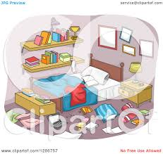 Bedroom Clipart by Bedroom Clipart Messy Clothes Pencil And In Color Bedroom