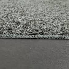 moderner badezimmer teppich einfarbig hochflor badteppich rutschfest in grau grösse 40x55 cm