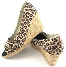 wedges shoes leopard trendprior import u2013 export u2013 trading